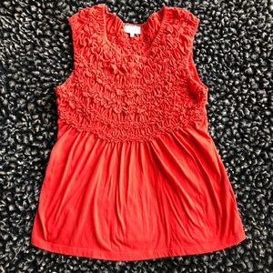 Anthropologie | Deletta red sleeveless top medium